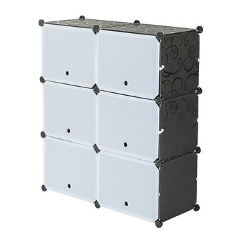 5-Tier Portable 20 Pair Shoe Rack Organizer 10 Grids Tower Shelf Storage Cabinet Stand Expandable for Heels, Boots, Slippers, Black