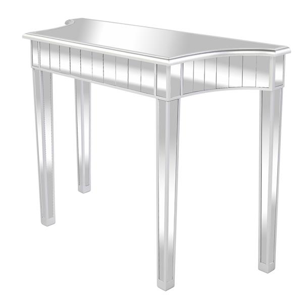 Mirrored Modern Style Makeup Table Silver