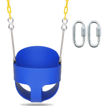 Swing Set Stuff Highback Full Bucket Swing Blue