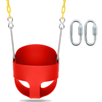 Swing Set Stuff Highback Full Bucket Swing Red