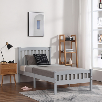 Vertical Bed Gray Twin