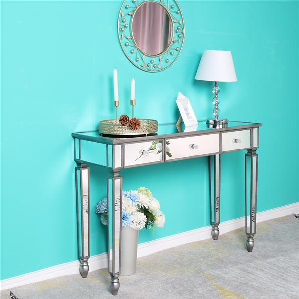 FCH Three Drawers Mirror Table Dressing Table Console Table