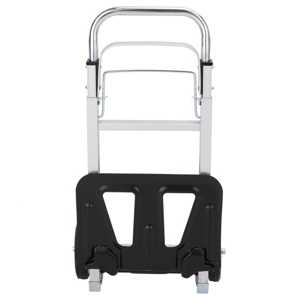 Iron 150kg Portable Folding Collapsible Aluminum Cart Dolly Push Truck Trolley Silver