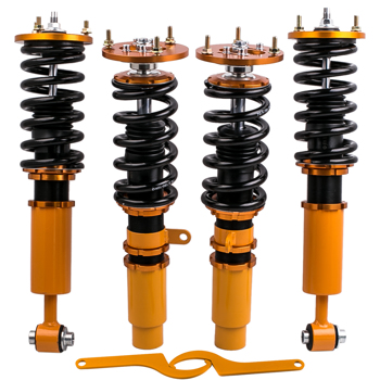 Coilovers Kit for BMW 5 Series E39  1996 - 03 Shock Absorbers Adj Height Golden