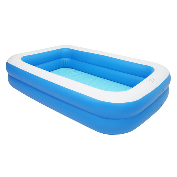 """102"""" x 70"""" x 22"""" Inflatable Swimming Pool - Wall Thickness 0.3mm Blue"""