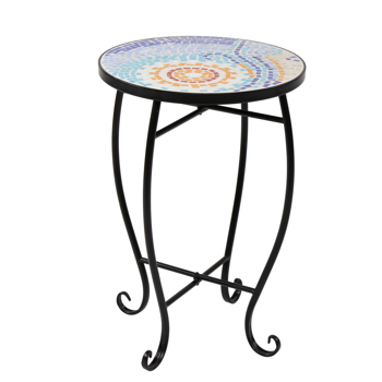 Mosaic Stained Glass Sun Surface Flower Stand