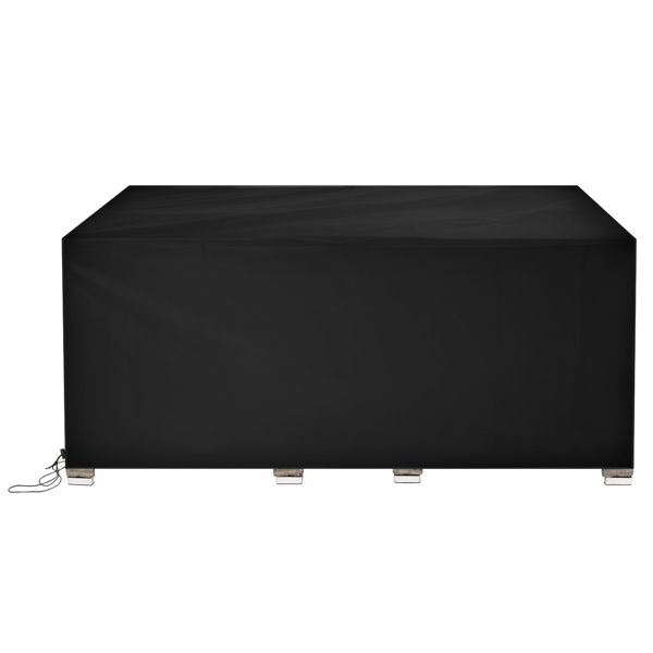 170*94*70cm 210D Oxford Cloth Outdoor Furniture Dust Cover Rain Cover Outdoor Table And Chair Cover Black