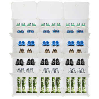 7-Tier Portable 42 Pair Shoe Rack Organizer 21 Grids Tower Shelf Storage Cabinet Stand Expandable for Heels, Boots, Slippers, White