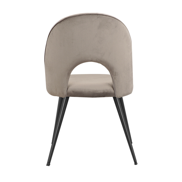 Set of 2,  Exquisite Velvet Dining Ear Chair, Kitchen/Bedroom/Lounge Chair with Metal Wood Grain Color Legs, HUANG C