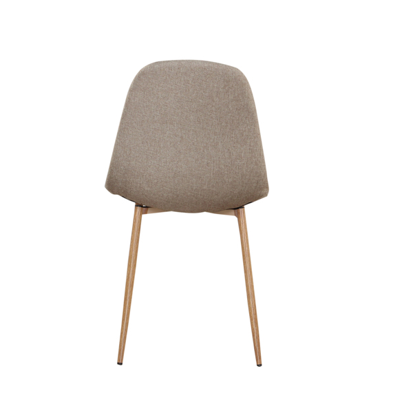 Linen/Leather/Velvet Dining Chair with Burlywood Color Metal Legs for Dining Room, Living Room, Office, Khaki