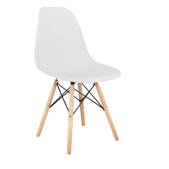 Living Room Chairs/Dining Chairs/Desk Chairs/Office Chairs/Leisure Chairs/Natural Beech Chairs with ABS backrest, a Set of 4, Black
