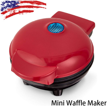 4 Inch Mini Waffle Maker Non-stick Waffle Maker In Red