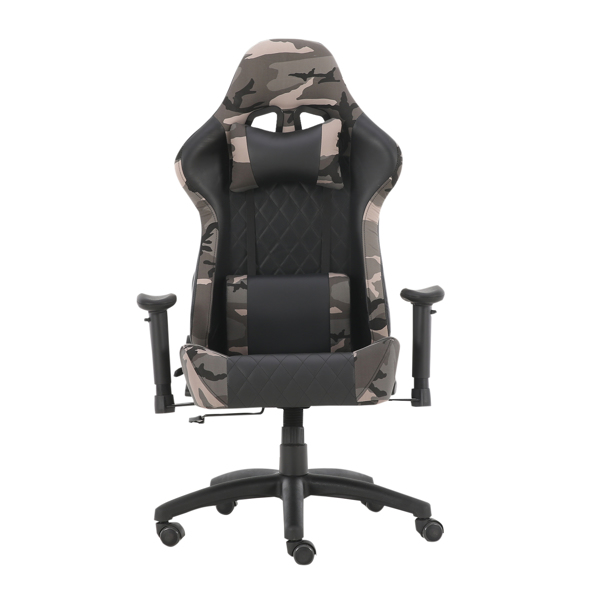 Gaming Chairs, Office Swivel Chairs, with headrest and Lumbar Pillow, Camo-B