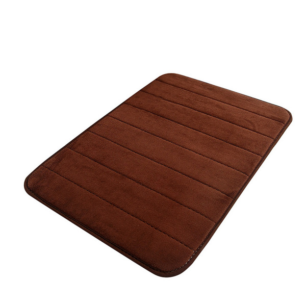 Memory Foam Bath Mat , Soft and Comfortable, Super Water Absorption, Non-Slip, Thick, Machine Wash, Easier to Dry Bathroom Floor Rug 50*80cm-coffee