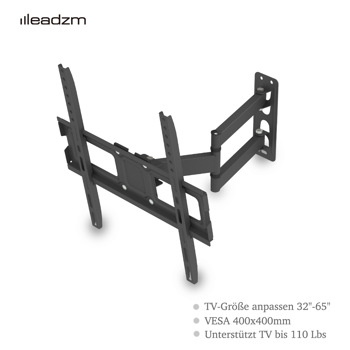 """LEADZM 32-65"""" Single Pendulum Small Base TV Stand Tmxd-103 Bearing 35KG / VESE400*400 / Up And Down -10~ 10°"""
