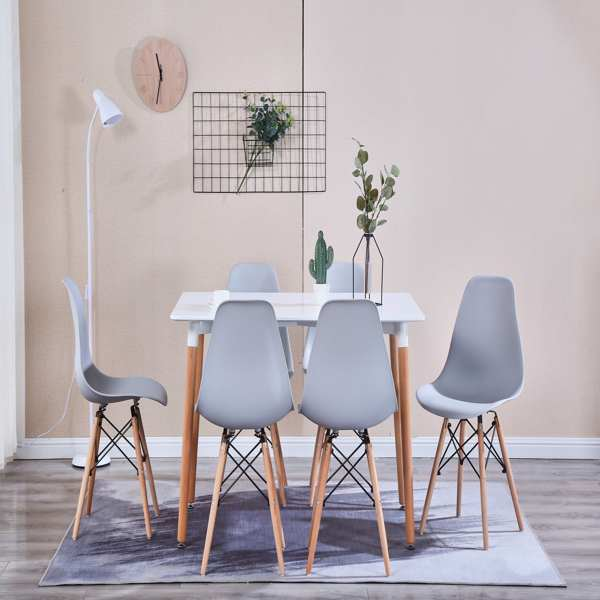 Living Room Chairs/Dining Chairs/Desk Chairs/Office Chairs/Leisure Chairs/Natural Beech Chairs with ABS backrest, a Set of 4