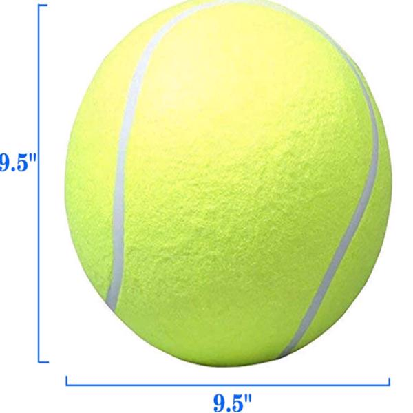 Giant Yellow Dog Tennis Ball Large Rubber Pet Toys
