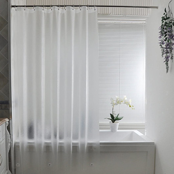 Shower Curtain Liner - Water Repellent Liner with Rust Proof Grommets for Bathroom Shower