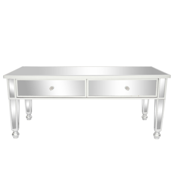 FCH Mirror Two Drawer Coffee Table Wooden Table Silver Gourd Feet