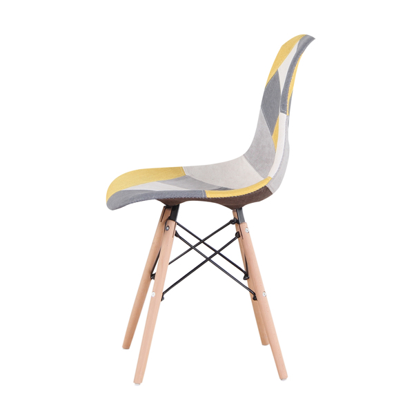 Nordic Classic Dining/Office Chair with Ergonomic design for Kitchen, Dining Room, Living Room, Office, Yellow