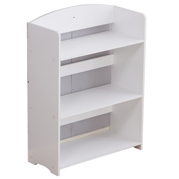 Wooden 4 Tier Storage Unit Display Standing Bathroom Shelf, Bookshelf Display Rack Bookcase Storage White