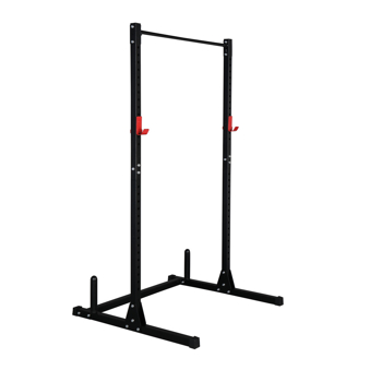 High Pull-Up Horizontal Bar With Barbell Rack Fitness Rack Black