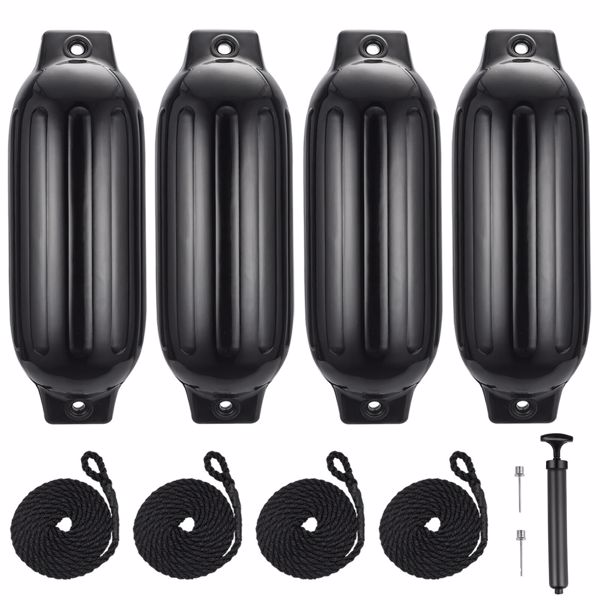 4 Pack 27 inches Inflatable Boat Fenders