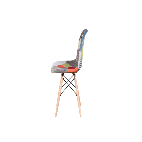 Nordic Classic Dining/Office Chair with Ergonomic design for Kitchen, Dining Room, Living Room, Office, Red