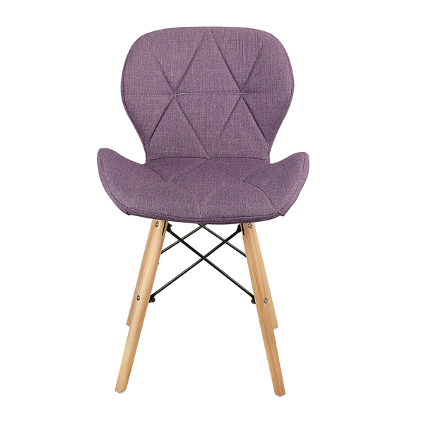EDLMH Set of 4 Exquisite Modern Ergonomic Design Dining Chair with Natural Beech Wood Legs for Dining Room, Office, Living, Room, Kitchen, Purple