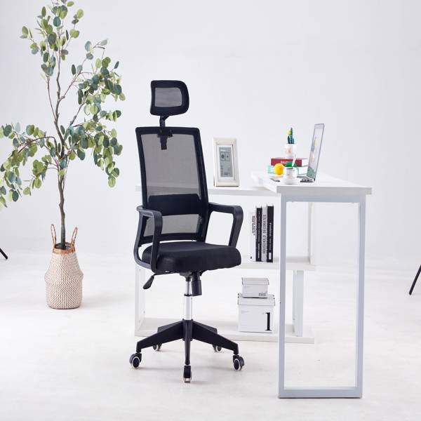 one piece, office/meeting/gaming swivel chairs, ergonomic design, black