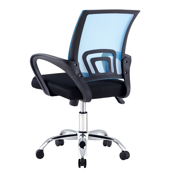 one piece, office/meeting/gaming swivel chairs, ergonomic design, blue