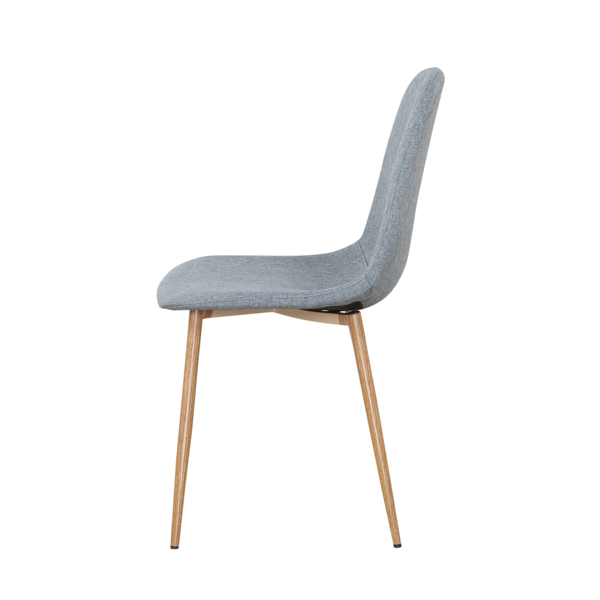 Linen/Leather/Velvet Dining Chair with Burlywood Color Metal Legs for Dining Room, Living Room, Office, Gray