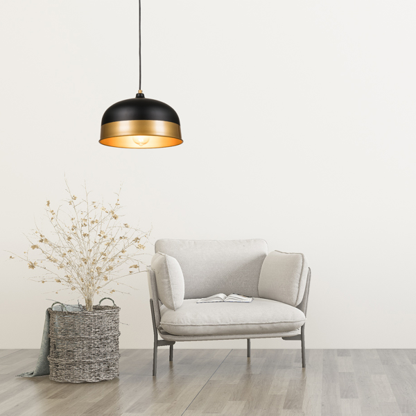 Led Round Ceiling Lights Circular Home LED lampshade, lampshade 11.8x11.8inch, dumb black