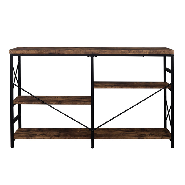 Industrial Sofa Table,Console Table,3-Tier Industrial Rustic Hallway/Entryway Table,Easy Assembly,for Entryway, Living Room