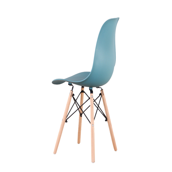 Living Room Chairs/Dining Chairs/Desk Chairs/Office Chairs/Leisure Chairs/Natural Beech Chairs with ABS backrest, a Set of 4, Green