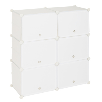 5-Tier Portable 20 Pair Shoe Rack Organizer 10 Grids Tower Shelf Storage Cabinet Stand Expandable for Heels, Boots, Slippers, White