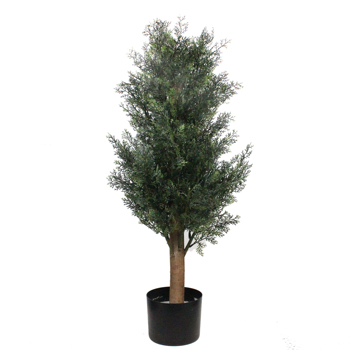 3ft Pine and Cypress Solid Wood PE Leaf 3ft Green Indoor and Outdoor General Simulation Tree