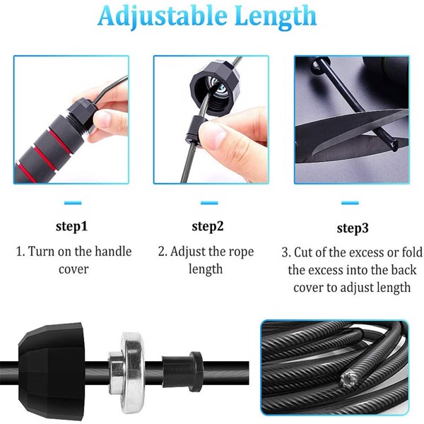 (Pack of 5) Adjustable Jump Ropes, Steel Wire Rope Ball Bearing Skipping Rope, Smoother Without Entanglement, 6-Inch Eva Memory Foam Soft Handle