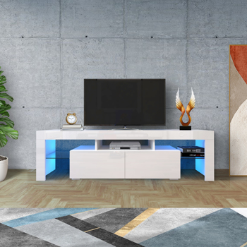 Entertainment TV Stand, Large TV Stand TV Base Stand with LED Light TV Cabinet.