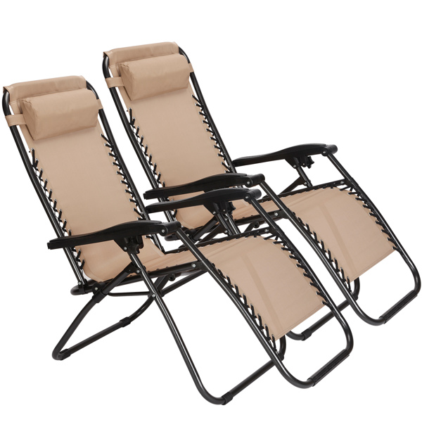 Zero Gravity Outdoor Lounge Chairs Patio Adjustable Folding Reclining Chairs Beach Chairs