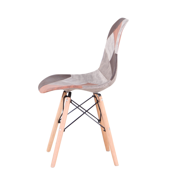 Living Room Chairs/Dining Chairs/Desk Chairs/Office Chairs/Leisure Chairs/Natural Beech Chairs with ABS backrest, a Set of 4, Cafe