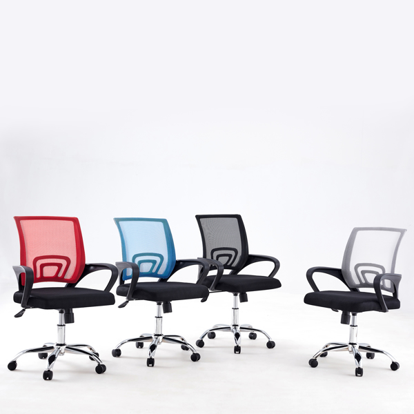 one piece, office/meeting/gaming swivel chairs, ergonomic design, red