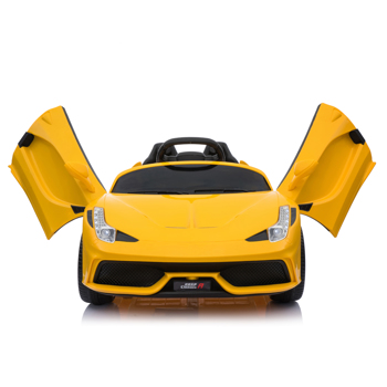12V Kids Ride On Sports Car 2.4GHZ Remote Control Yellow