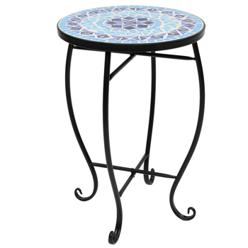 Mosaic Stained Glass Flower-Shaped Surface Flower Stand
