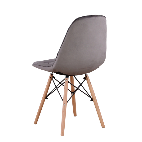 Set of 4 Velvet Ergonomic Dining Chair with Metal Frame and Beech Wood Legs for Dining Room, Office, Living Room, Bedroom, Cafe