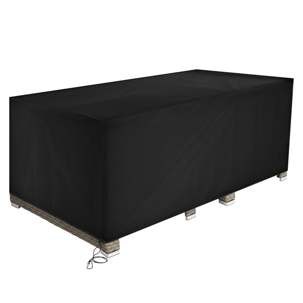 325*208*58cm 210D Oxford Cloth Outdoor Furniture Dust Cover Rain Cover Outdoor Table And Chair Cover Black