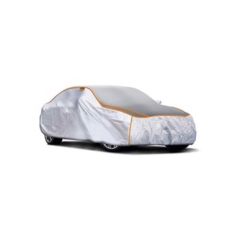 3-layer thickened car full exterior covers, rain, hail and UV protection, size: 170 x 65x 47 inches, net weight 7.1 pounds, thickness 0.16 inches
