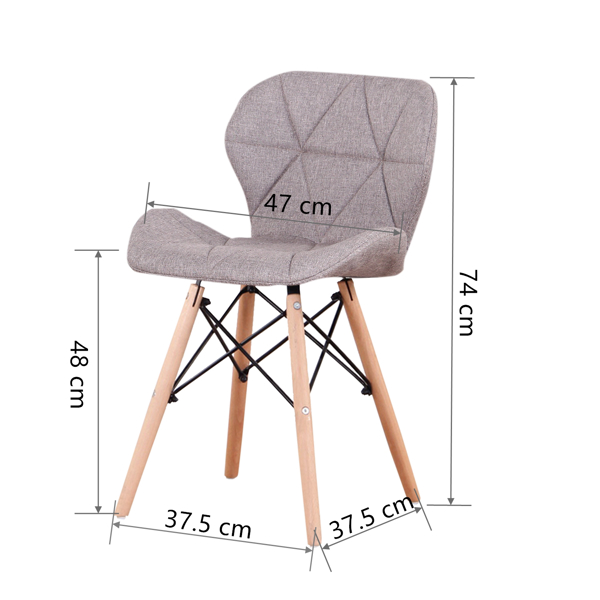EDLMH Set of 4 Exquisite Modern Ergonomic Design Dining Chair with Natural Beech Wood Legs for Dining Room, Office, Living, Room, Kitchen, Cafe