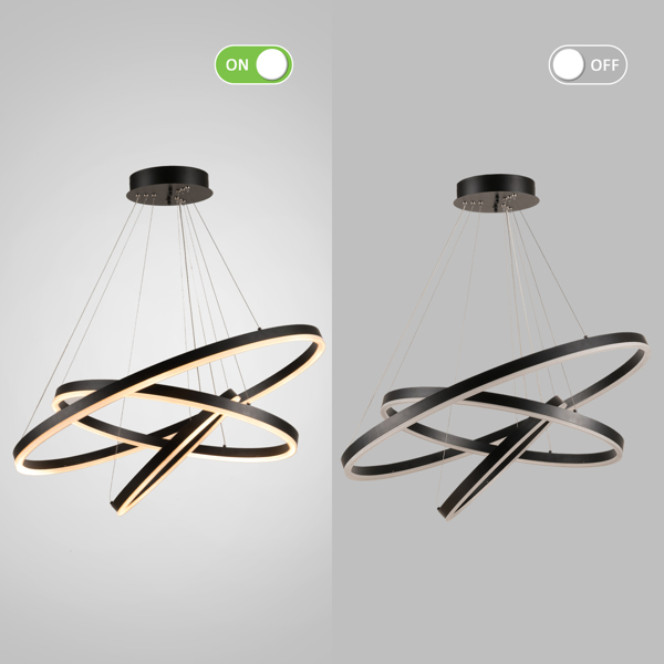 【 Circular 】 Home LED line light with 31.5x31.5inch, monochromatic temperature