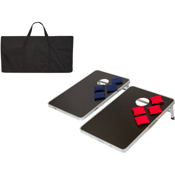 Portable Bean Bag Toss Cornhole Game Set of 2 Boards and 8 Beanbags